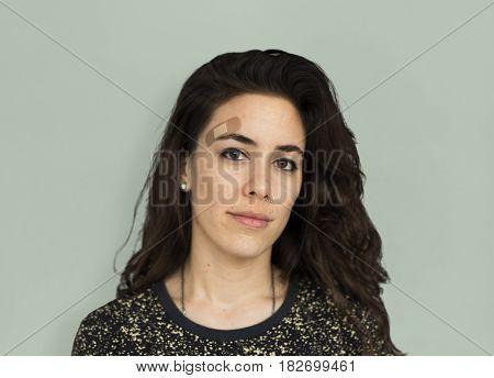 Woman Female Girl Attractive Pretty Worry Concept