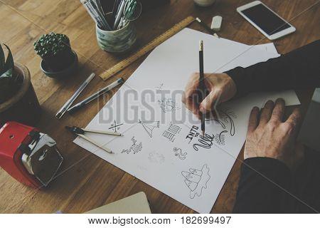 Sketching Creative Draw Pencil Design