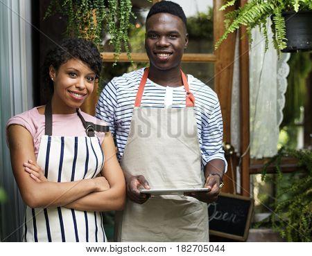 Partner for small business entrepreneur retail