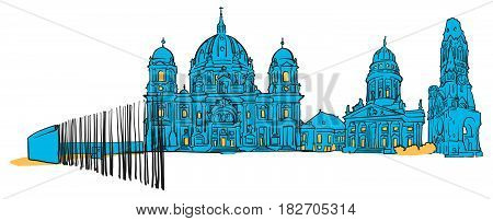Berlin Germany Colored Panorama
