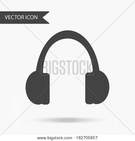 Vector Business Icon Headphones. Icon For For Annual Reports, Charts, Presentations, Workflow Layout