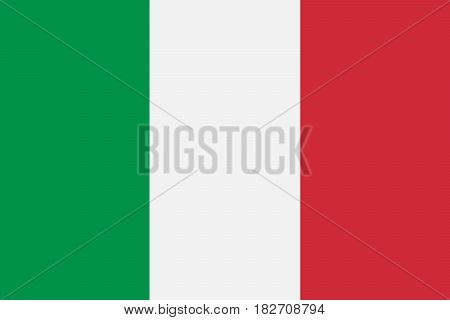 National Italy flag official colors and proportion correctly. Vector illustration.