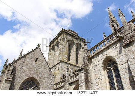 Outdoor of Saint Ronan church in Locronan