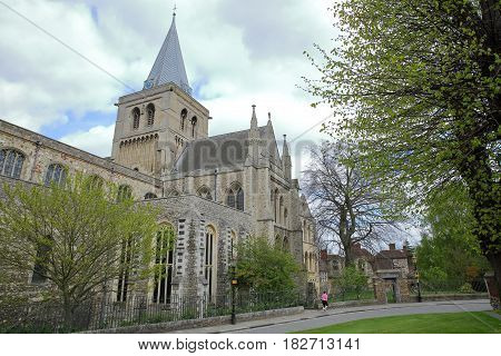 ROCHESTER, UK: The Cathedral with Spring colors