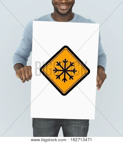 Snow Flake Cold Warning Sign
