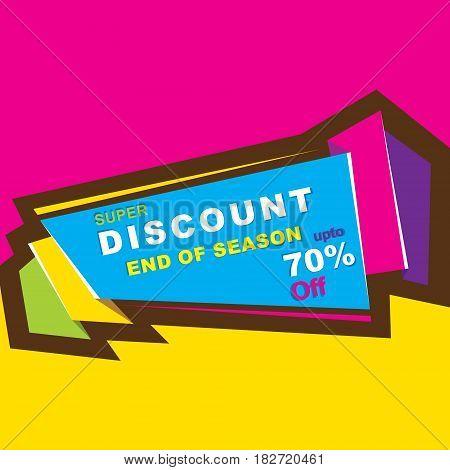 big discount end of season sale banner or poster design