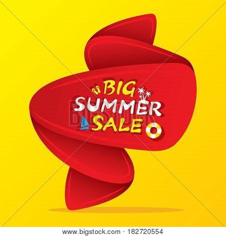 big summer sale banner design with big offer