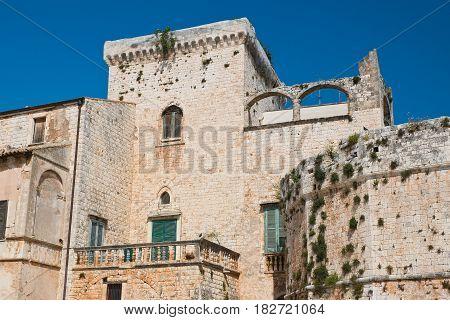 Perspective of the Castle of Conversano. Puglia. Italy.