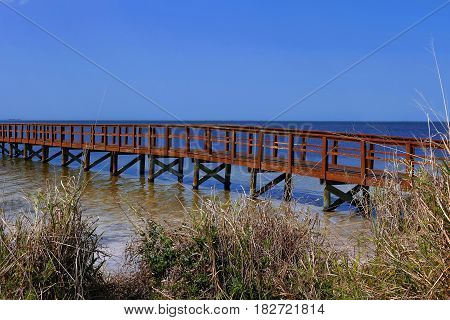 Wesley S. Henry Community Pier located at Crystal Beach Palm Harbor FLorida USA