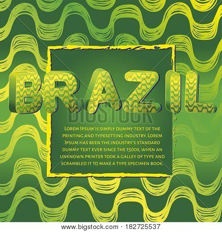 Ipanema beach pattern banner. Vector illustration. Brasil style pattern.