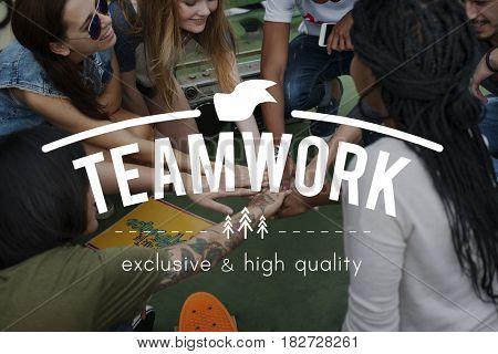 Teamwork Collaboration Team Graphic Word