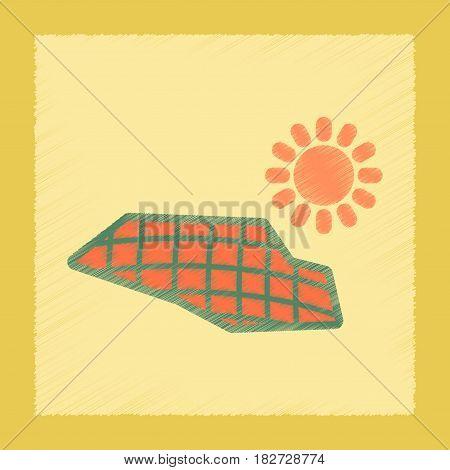 flat shading style icon nature solar panels