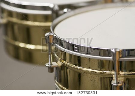 drums are all ready for parade rehearsal