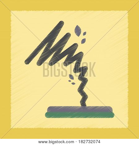 flat shading style icon nature disaster tornado