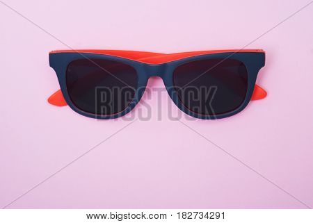 Fashion Sunglasses, Pink Background,