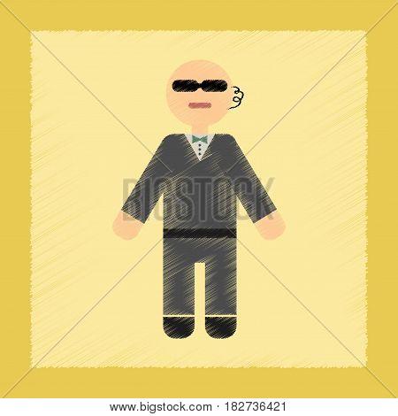 flat shading style icon poker male guard