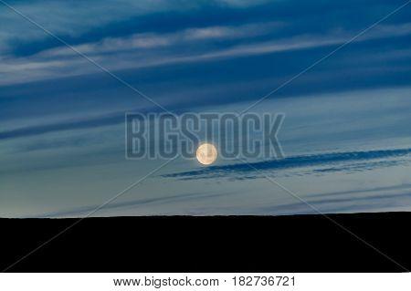 Patagonia Landscape Moonscape Scene, Argentina