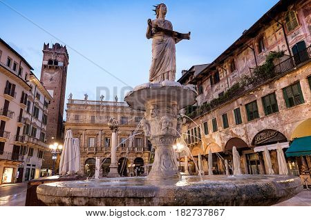 Verona, Italy - April 04, 2017: Cityscape Of Verona, Veneto