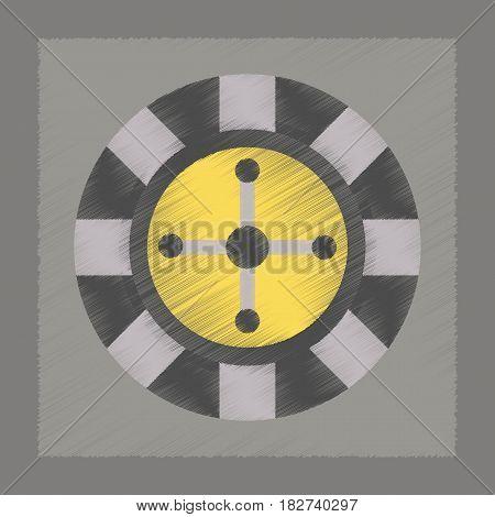 flat shading style icon poker roulette casino