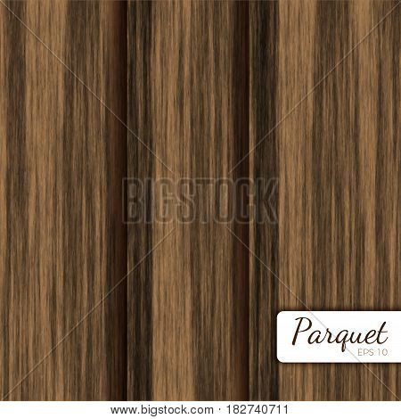 Wooden planks vector background. Detailed parquet texture. Laminate boards illustration.