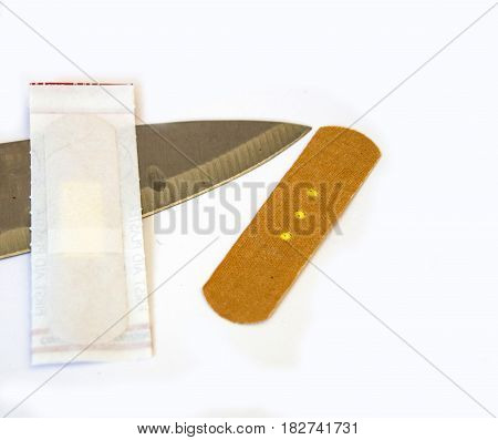 Wound band, hand cutting, wound band in blade cuts, use wound band
