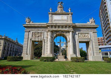 Valencia Puerta porta de la Mar door square in Spain