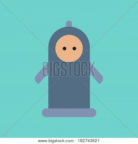flat icon on stylish background gays condom contraceptive