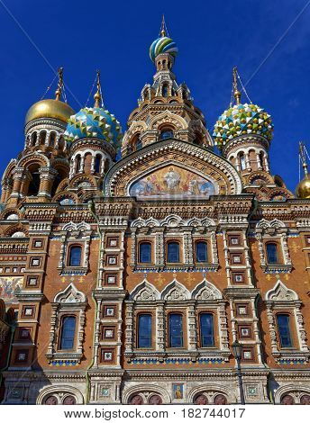 Cathedral of the Resurrection of Christ in Saint Petersburg, Russia.Church of the Savior on Blood.