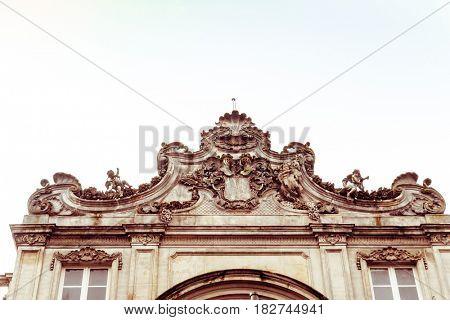 antique church building in paris,Europe