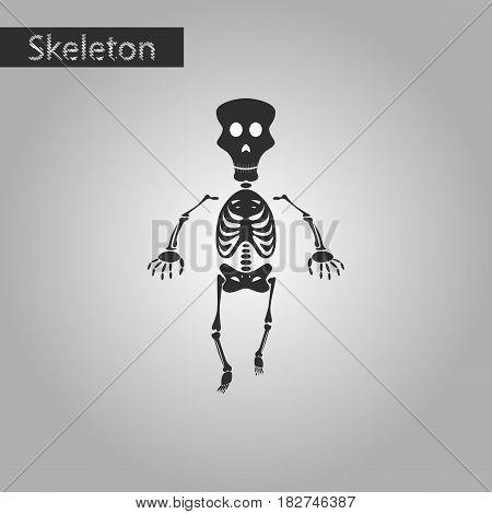black and white style icon of skeleton stick figure