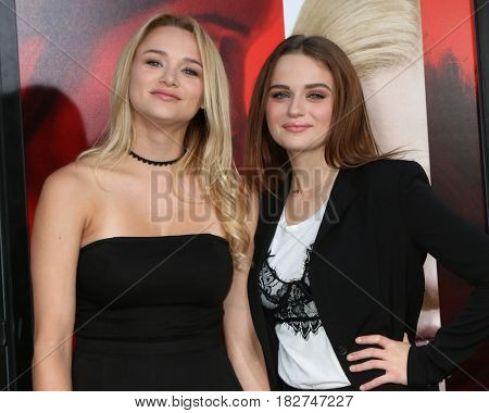 LOS ANGELES - APR 18:  Hunter King, Joey King at the