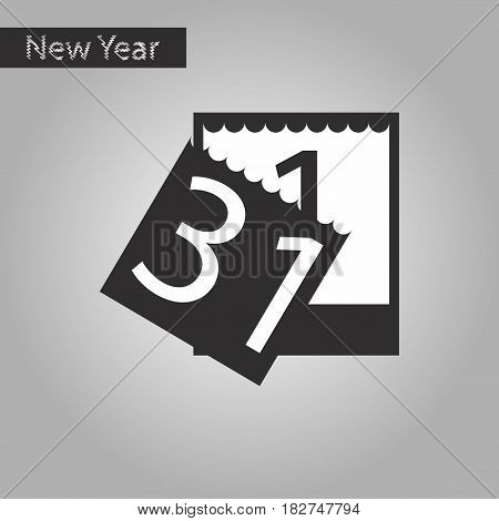 black and white style icon of tear-off calendar