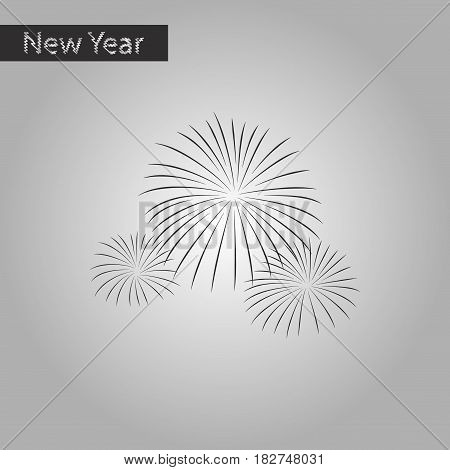 black and white style icon of firework