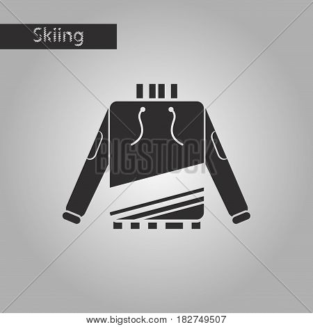 black and white style icon skiing sweater