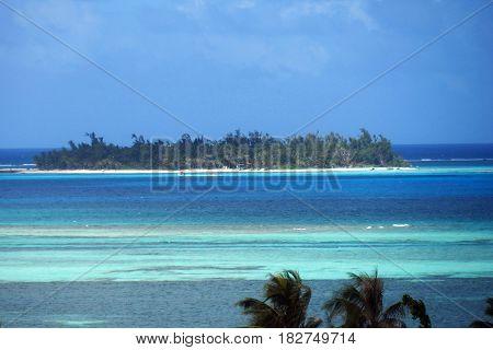 Managaha Island, Saipan, Northern Marianas Managaha island at the Saipan lagoon hosts thousands of visitors from different countries each year.