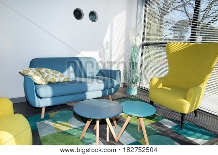 Interior Of A Very Trendy And Fashionable Lounge