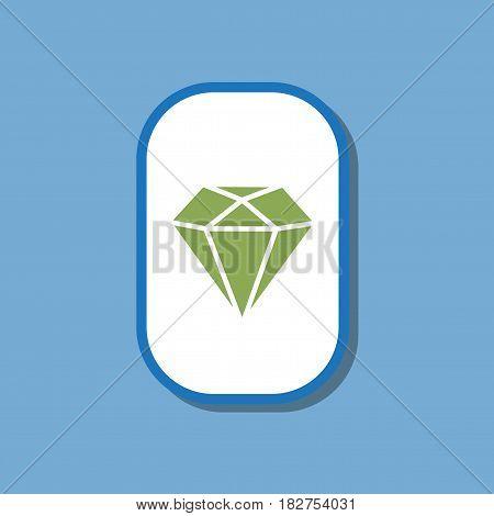 paper sticker on stylish background of diamond symbol