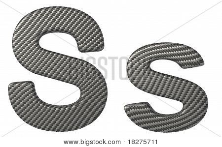 Carbon Fiber Font S Lowercase And Capital Letters