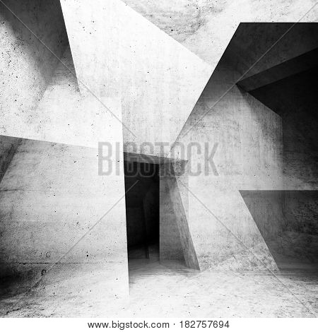 Abstract Concrete Interior Background 3D Render