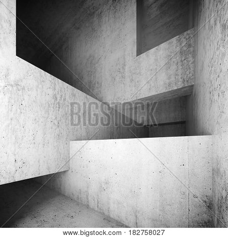 Abstract Empty Concrete Interior, Walls And Girders