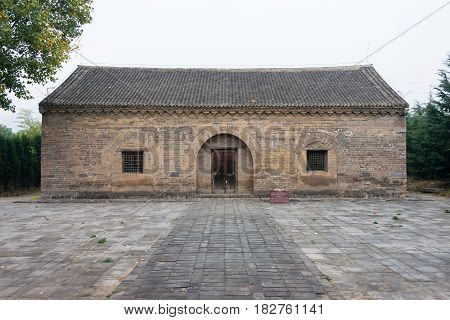 Henan, China - Nov 05 2015: Taishi Que Gates(unesco World Heritage Site). A Famous Historic Site In