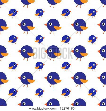 Cute baby seamless pattern bird, eyes, wings, kid, blue, pink, yellow background, autumn, garden, print, textile, fabric, design, funny, texture, decor,
