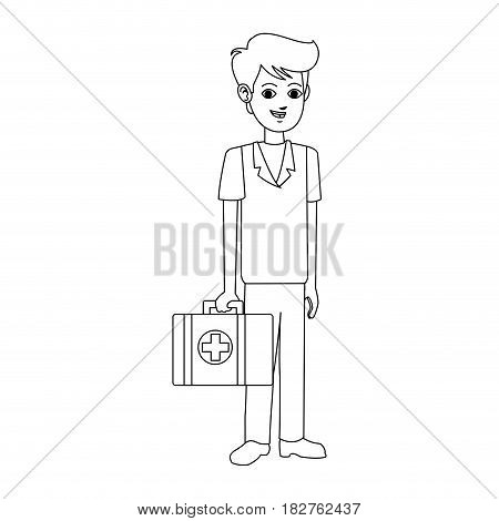 young male medical doctor icon image vector illustration design