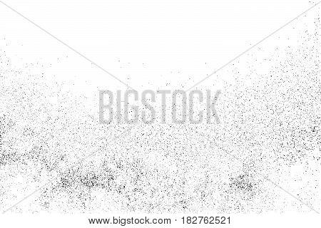 Black Grainy Texture Isolated On White.