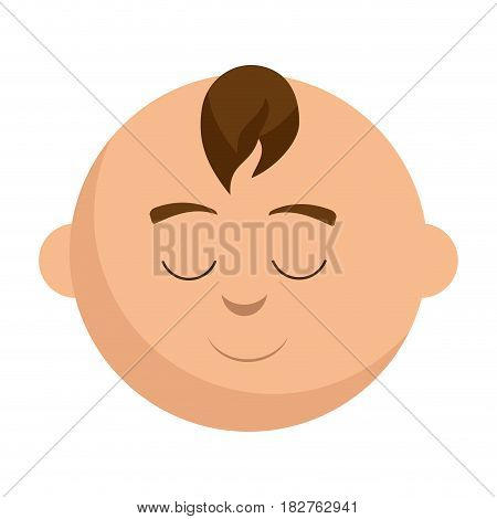 little baby asleep character vector illustration design
