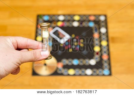 Board Game. Hourglass