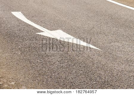 Day view background of UK Motorway Road Markings.