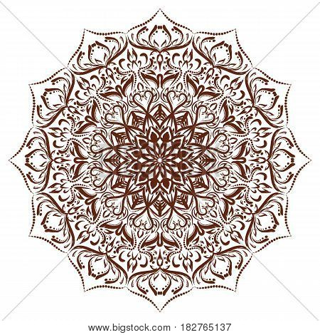 Vector mandala with floral ornament. Format eps10