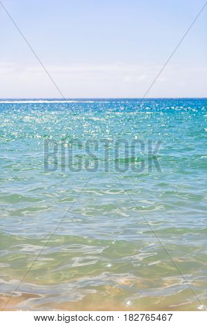 abstract calm clear blue sea with sunshine background, Tenerife