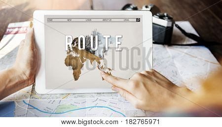 Journey Travel Destination Navigation Graphic Word